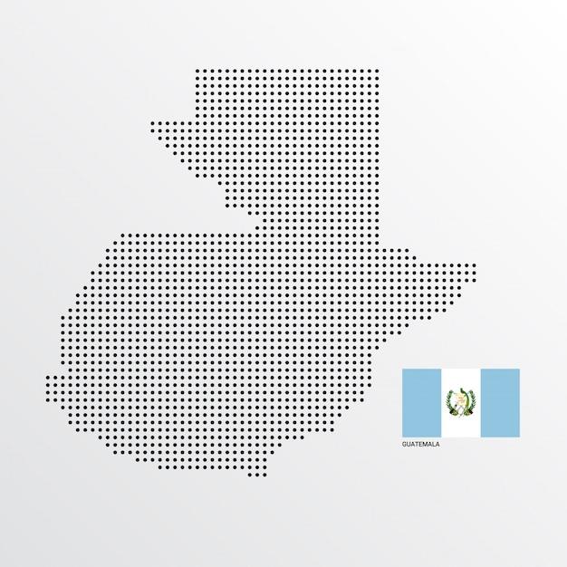 Progettazione del programma del guatemala con la bandiera ed il vettore leggero del fondo Vettore gratuito
