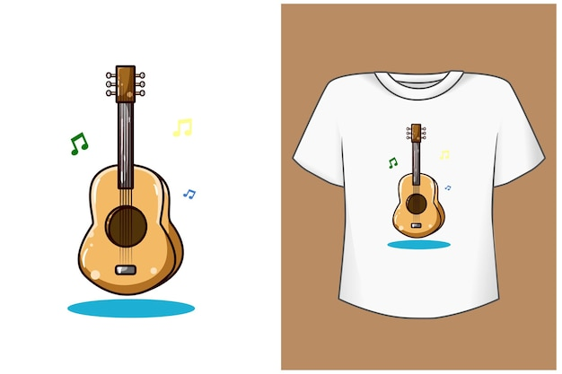 Guitar cartoon illustration Premium Vector