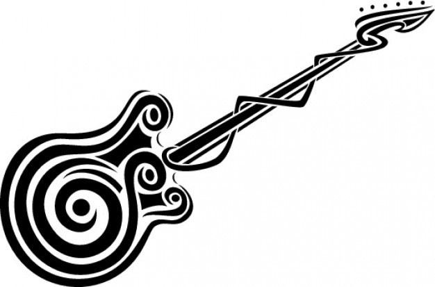 guitar clipart with an spiral vector free download rh freepik com victor guitar capo victor guitars denver colorado