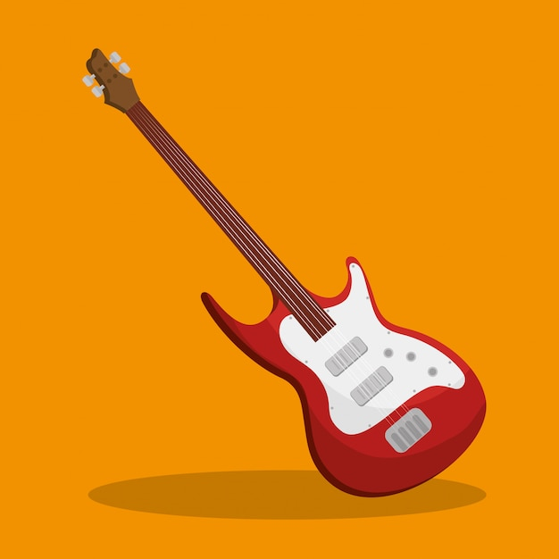 Guitar electric instrument isolated illustration Free Vector