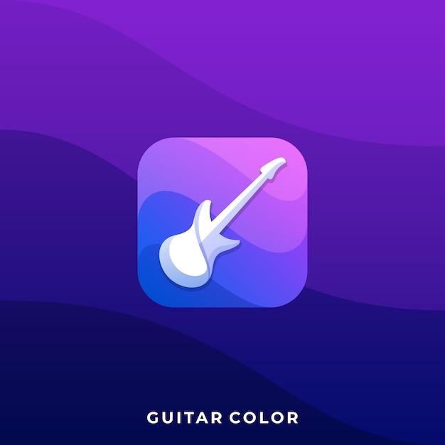 Guitar icon illustration design template Premium Vector