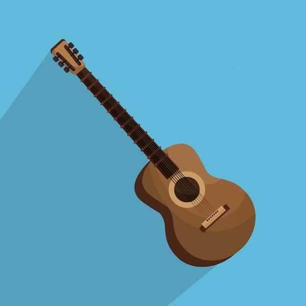 Гитарный инструмент изолированных иллюстрация Бесплатные векторы