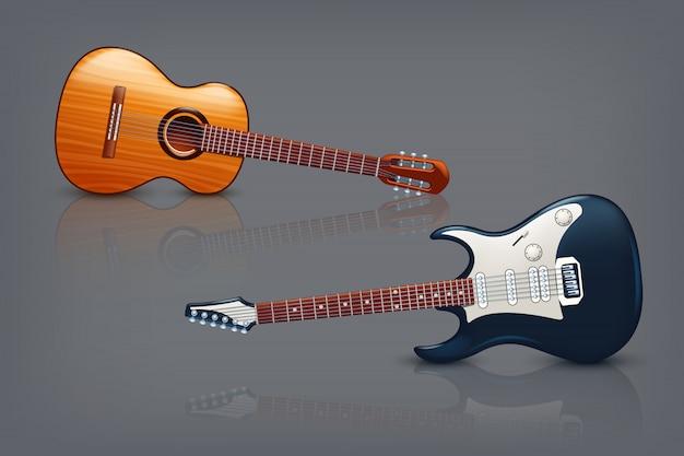 Guitar picture Premium Vector