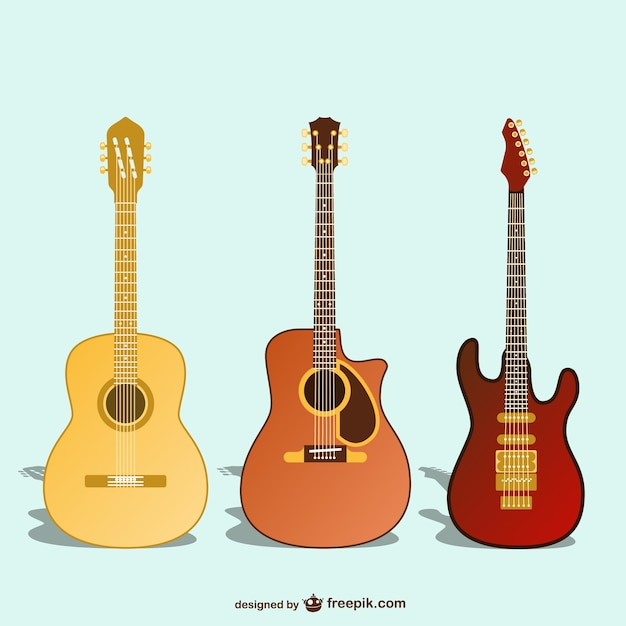 Guitars Collection Vector Free Download