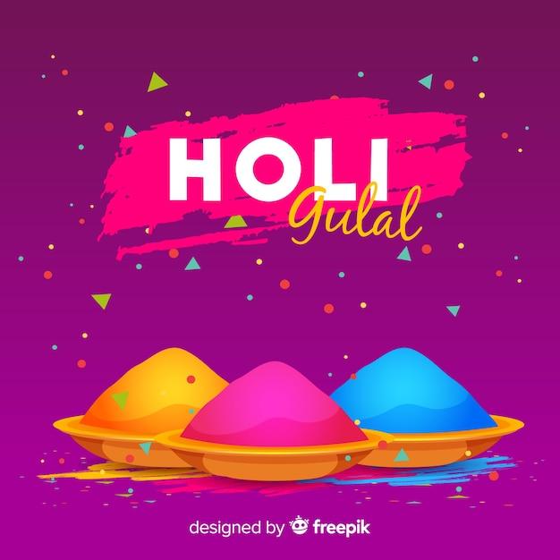 Gulal holi festival background Free Vector