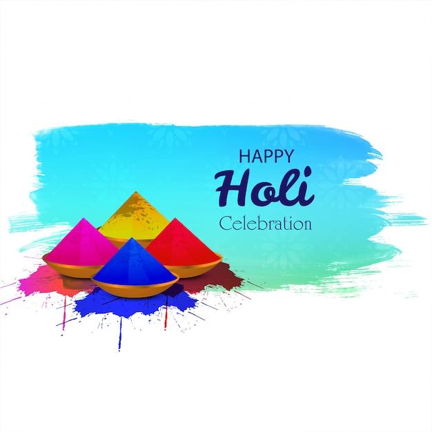 Gulalハッピーホーリーと色のインドのお祭り 無料ベクター