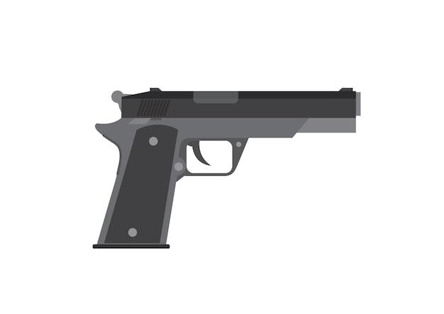 Gun in white background. Premium Vector