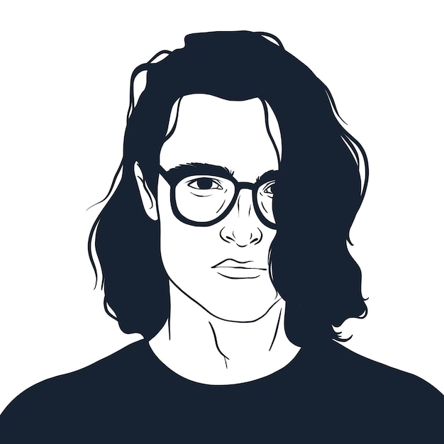 Guy with glasses Premium Vector