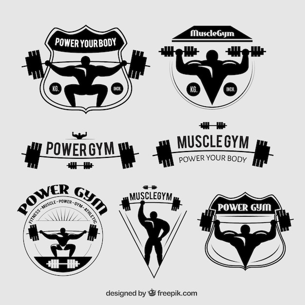 Gym badges vector free download