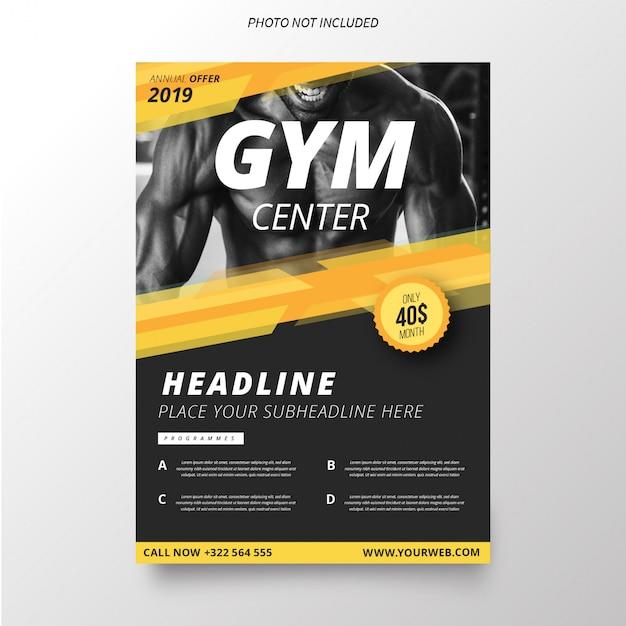Gym center brochure template Free Vector
