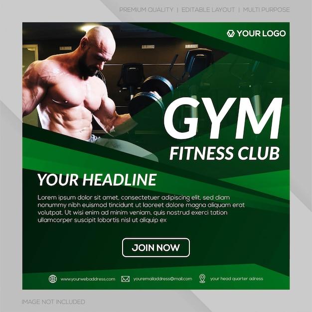体操クラブinstagram投稿テンプレート Premiumベクター