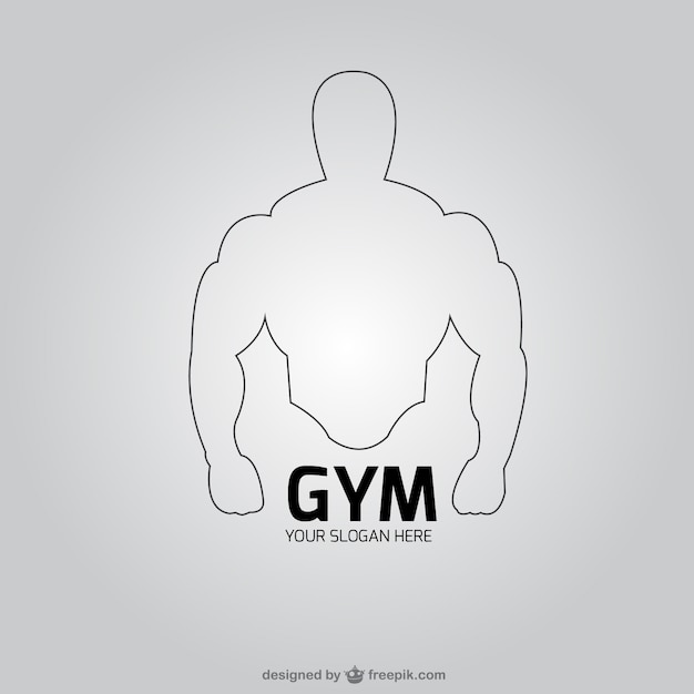 Gym club logo vector free download for Posters para gimnasios