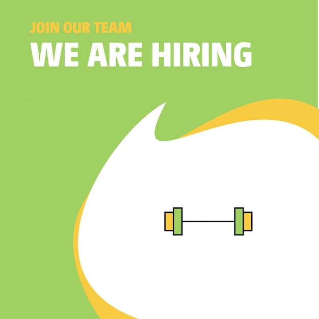 Gym company we are hiring background Free Vector