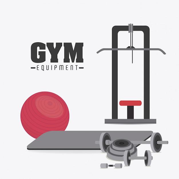Gym design. Premium Vector