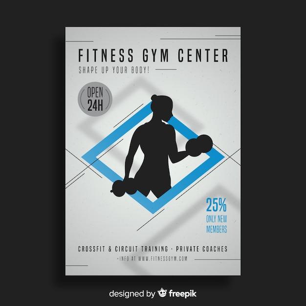 Gym flyer brochure Free Vector