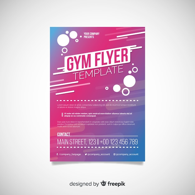 gym flyer template vector free download