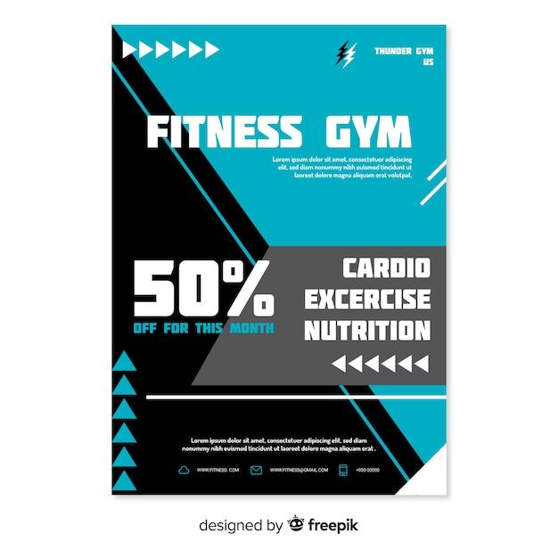 Gym flyer Free Vector