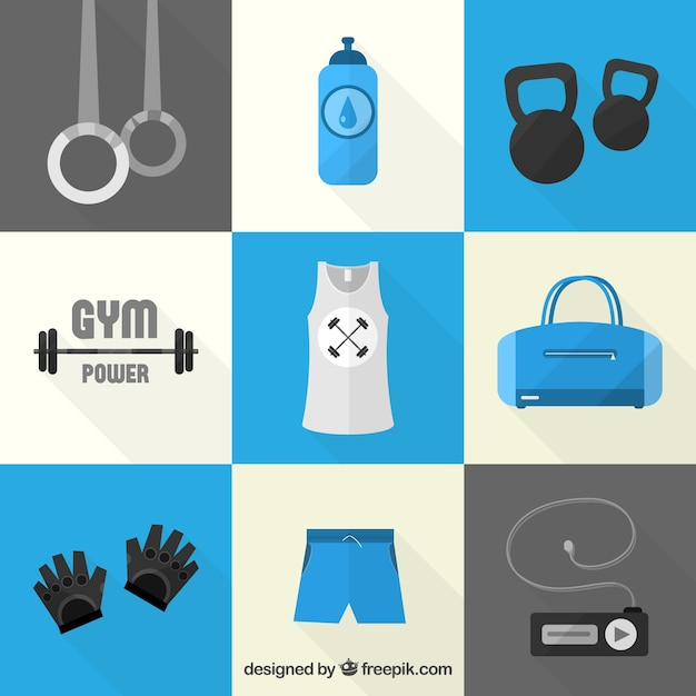 Gym icons vector free download