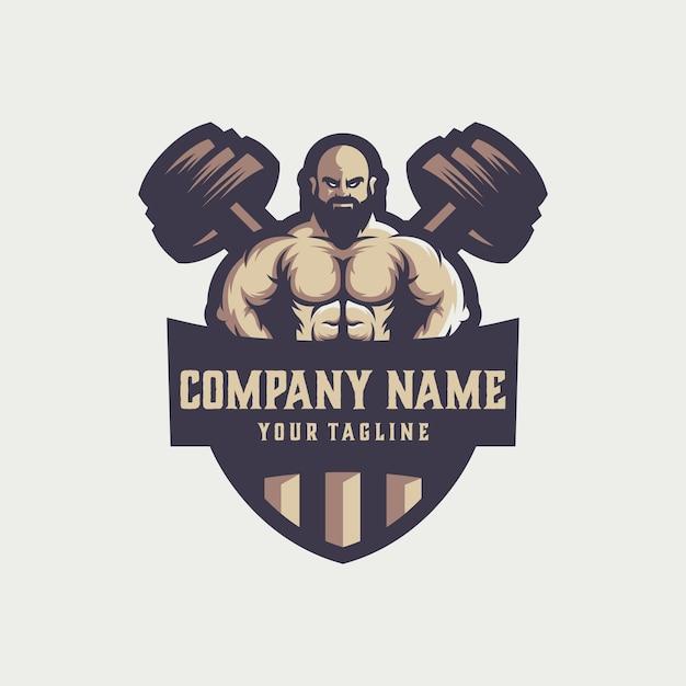 Gym logo vector Premium Vector