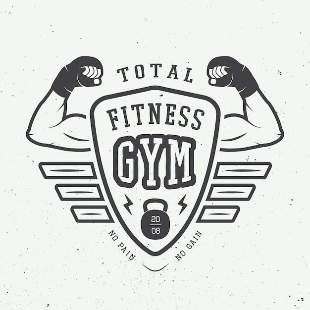 Gym logo Premium Vector