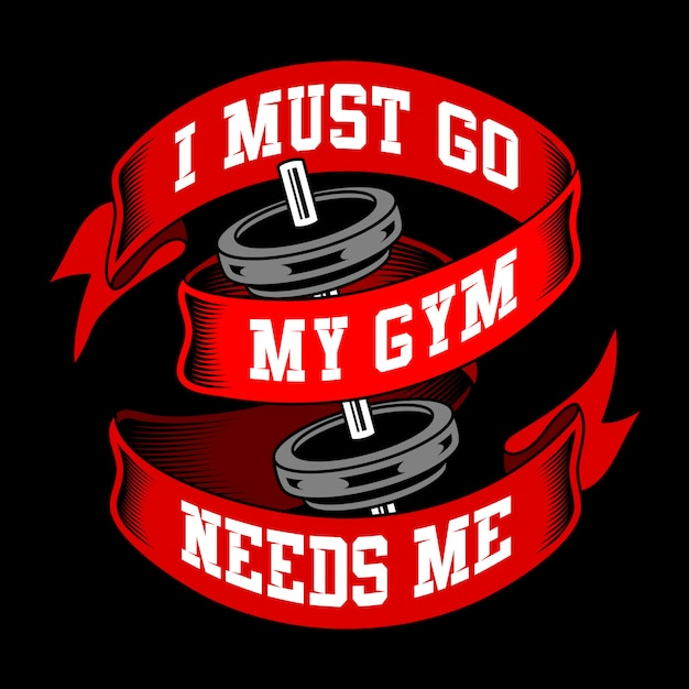 Gym sayings and quotes Premium Vector