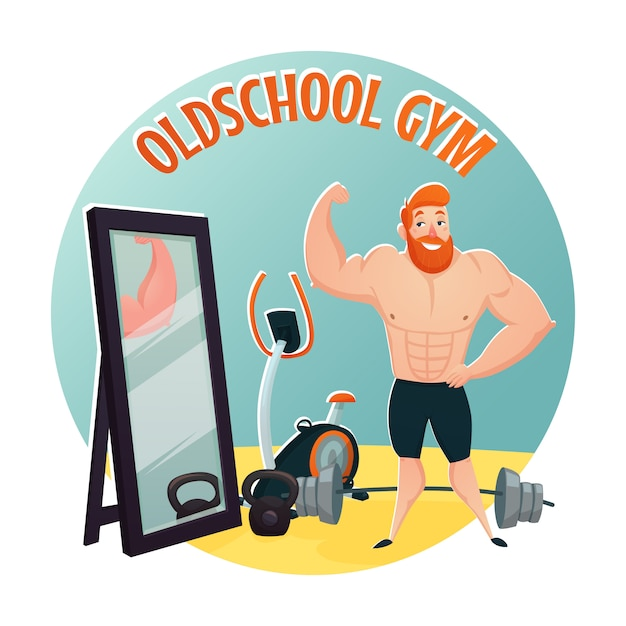 Gym school design concept Free Vector