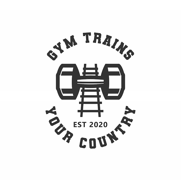 Gym trains logo Premium Vector
