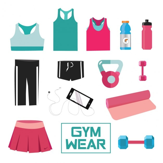 Gym wear collection Free Vector