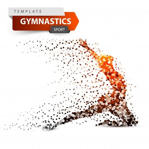 Gymnastics, sport Premium Vector