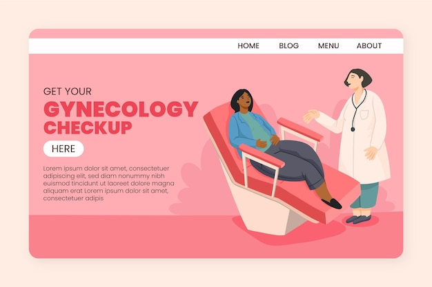Gynecology checkup - landing page Free Vector