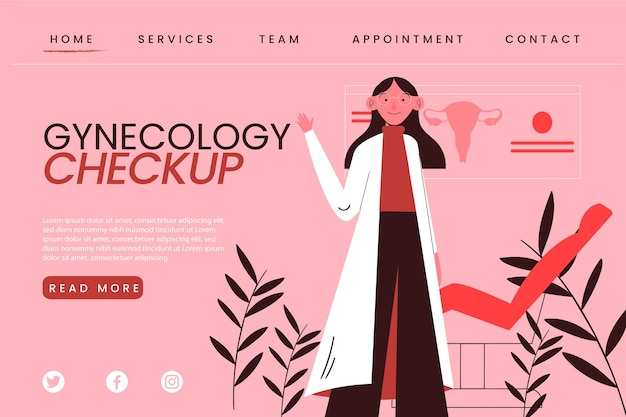 Gynecology checkup landing page Free Vector