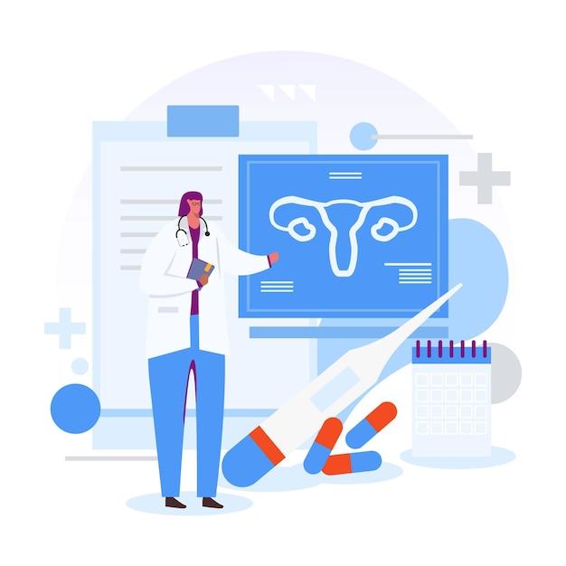 Ginecologia concetto illustrazione concetto Vettore gratuito