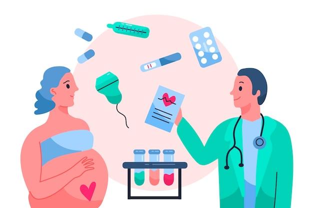 Иллюстрация концепции гинекологии Бесплатные векторы