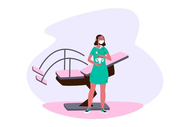 Illustrazione di concetto di ginecologia Vettore gratuito