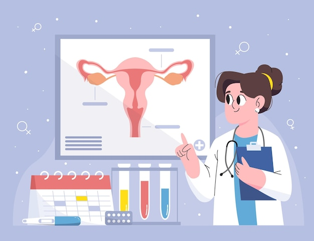 Concetto di ginecologia Vettore gratuito