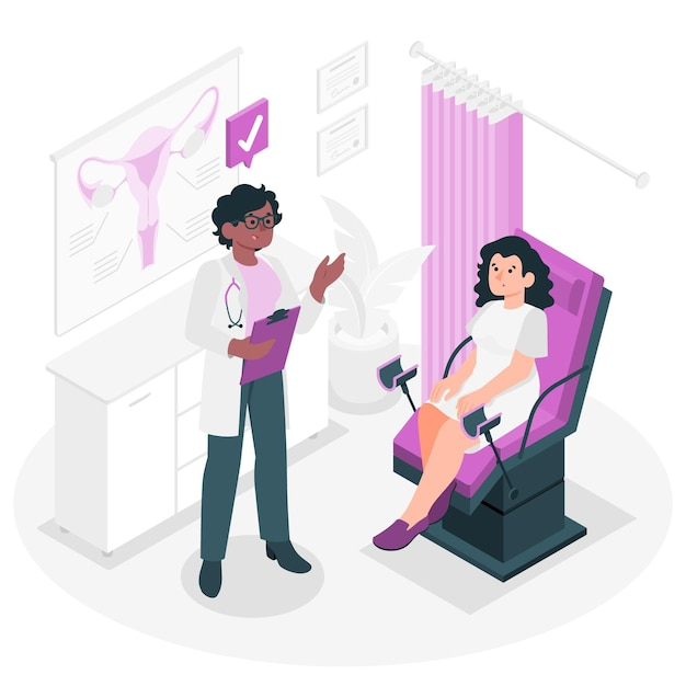 Gynecology consultation concept illustration Free Vector