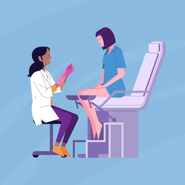 Concetto di consultazione ginecologica Vettore gratuito