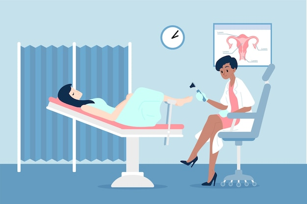 Gynecology consultation illustration Free Vector