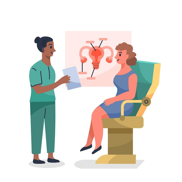 Gynecology consultation illustration Free Vector