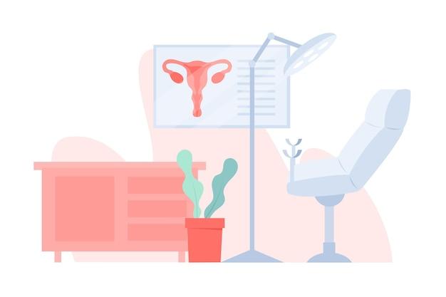 Illustrazione di consultazione ginecologica Vettore gratuito