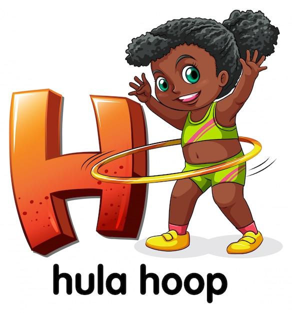 Буква h для обруч Бесплатные векторы