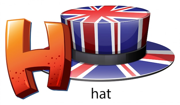 Буква h для шляпы Бесплатные векторы