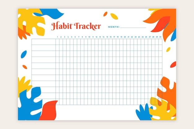 Modello di monitoraggio delle abitudini Vettore gratuito