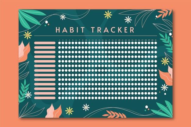 Habit tracker template Free Vector