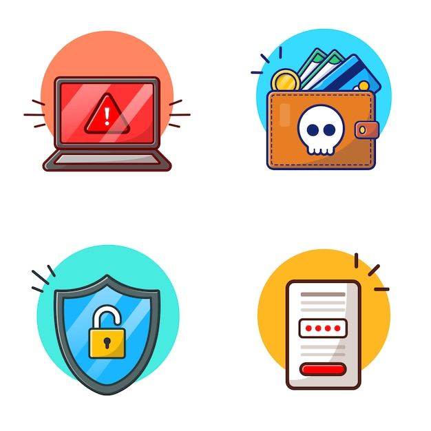 premium vector hacker activites vector icon illustration hacker and technology icon concept white isolated freepik