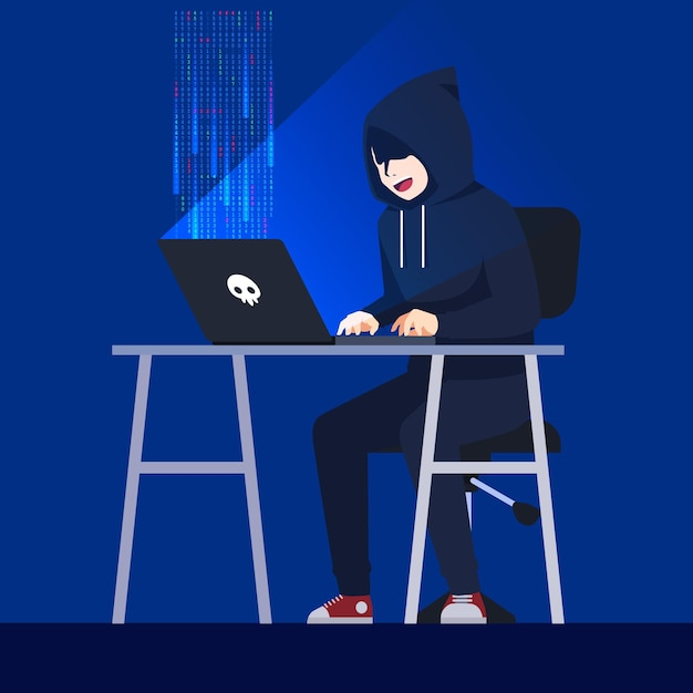 Concetto di attività di hacker Vettore gratuito