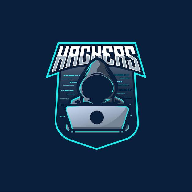 ハッカー匿名ロゴ Premiumベクター