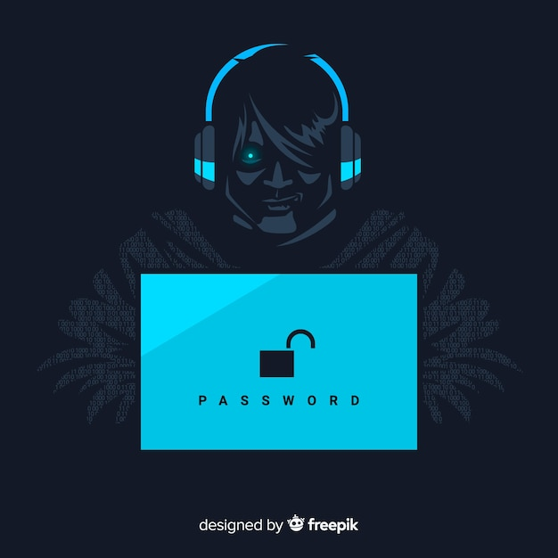 Hacker background Free Vector
