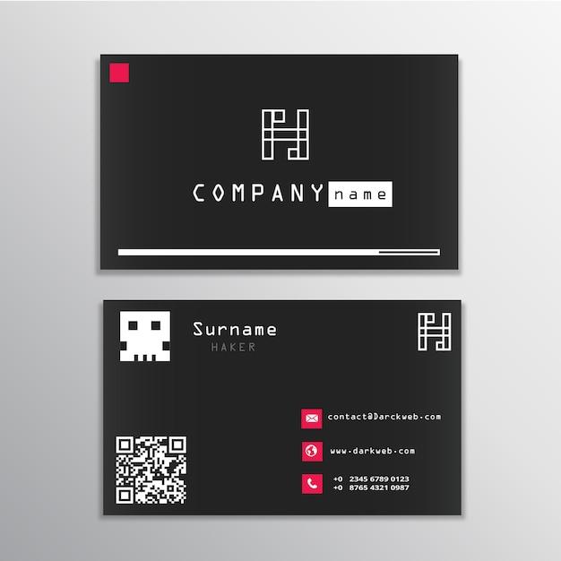 Hacker Business Card Vector Premium Download