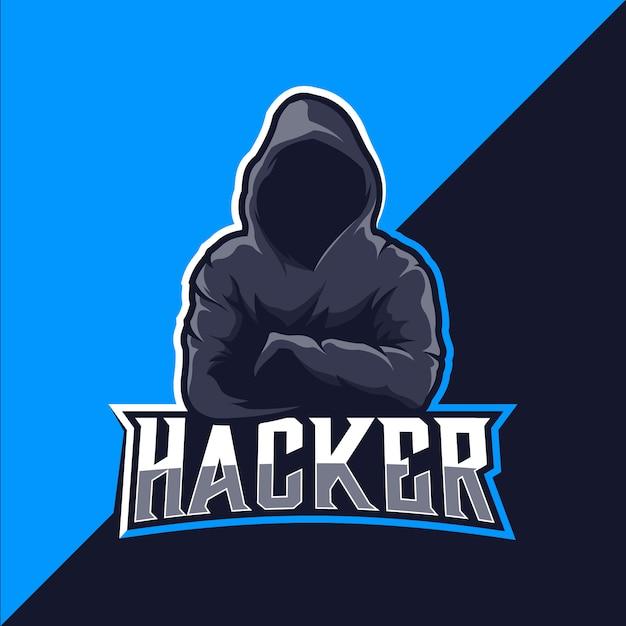 ハッカーロゴeスポーツ Premiumベクター